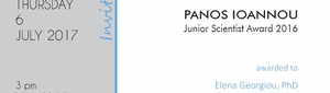 Panos Ioannou Junior Scientist Award 2016